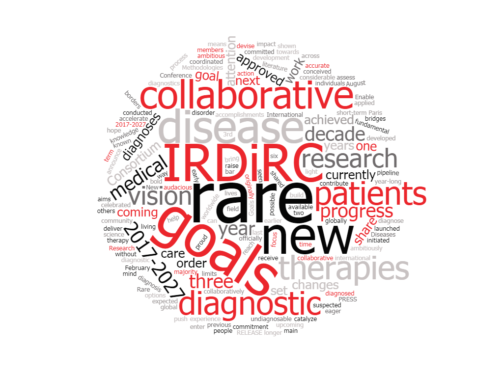 IRDiRC Goals 2017-2027:  New rare disease research goals for the next decade